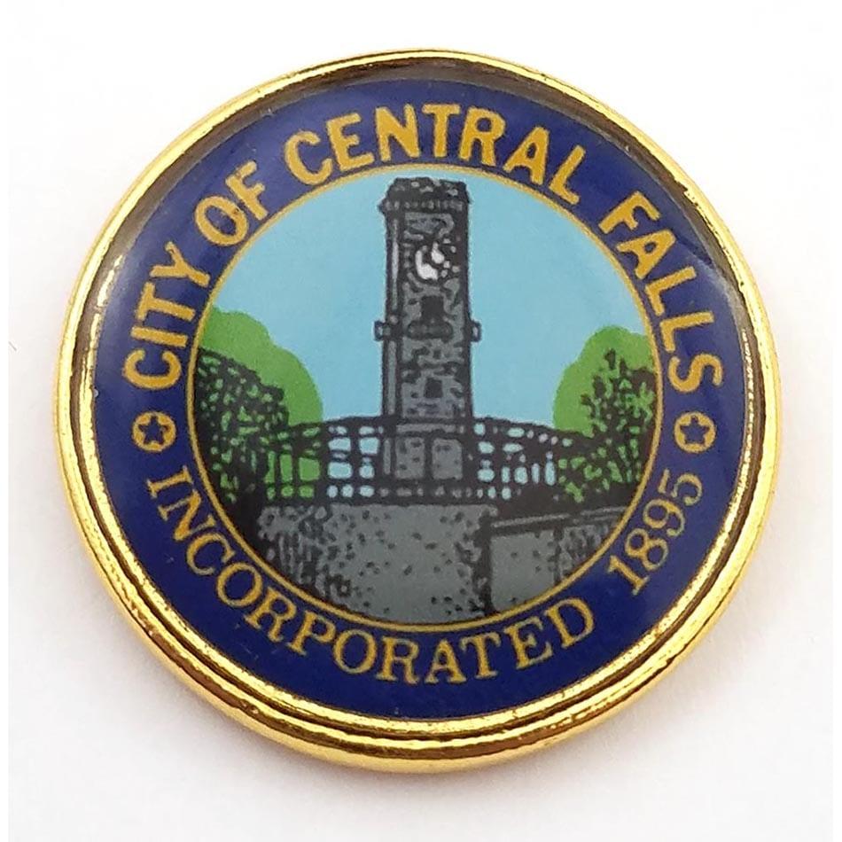 Central Falls Rhode Island Pin and Cufflink