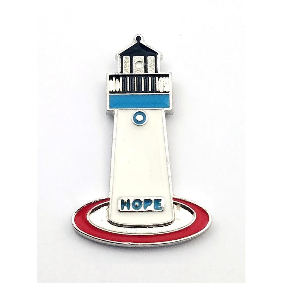 """Hope Light House Pin""-Metroplis Lighthouse"