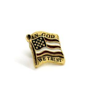 American Flag Pin, In God we Trust