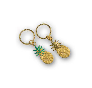 Key Chain with Large Pineapple