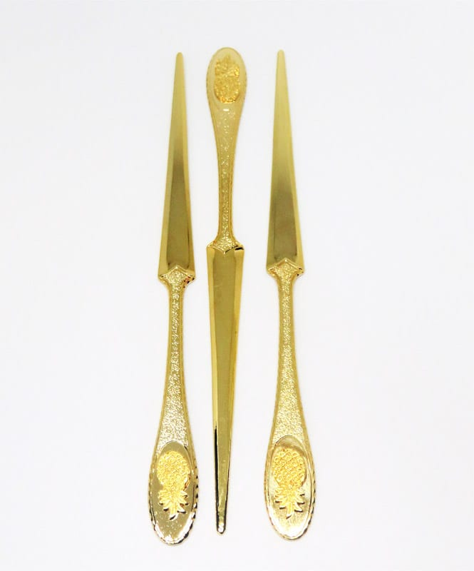 Letter openers with small pineapple