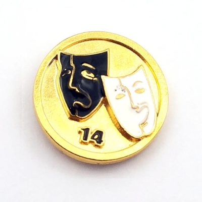 Elks Club Mask pin