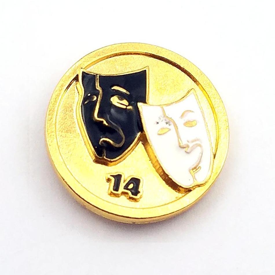 Elks Club Mask pin