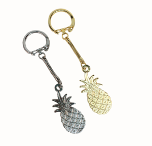 Latch Top Pineapple Key Chain (Silver/Gold)