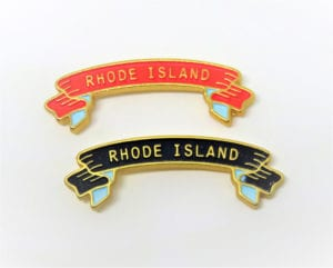 Rhode Island custom made banner pins
