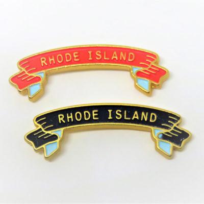 Rhode Island Banner Lapel Pins
