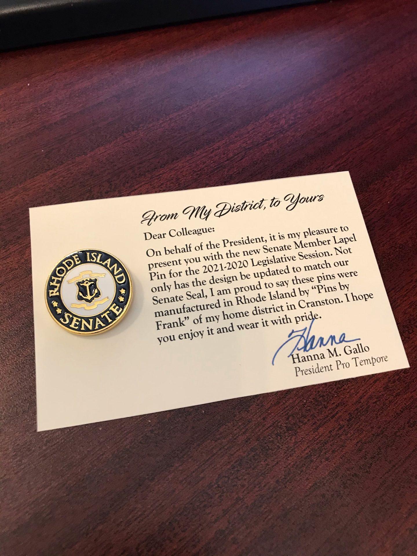 Rhode Island Senate Pin