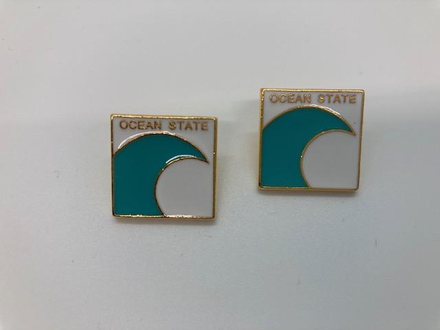 Rhode Island Pins with Wave Design