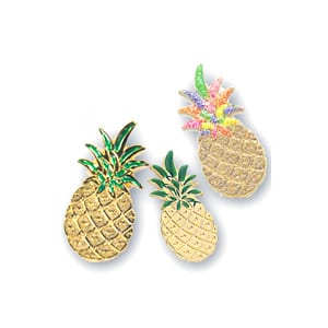 Painted Pineapple Pins, medium & Large
