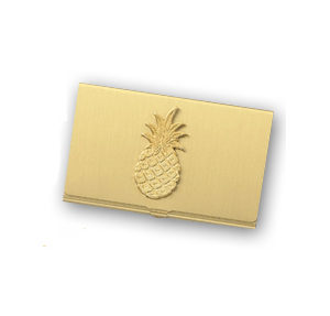 Pineapple Brass Card Case (Silver and Gold)
